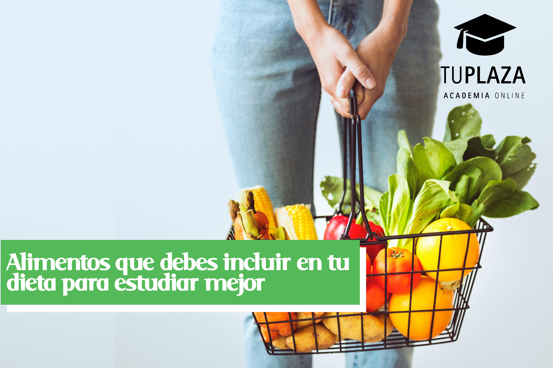 Alimentos que debes incluir en tu dieta para estudiar mejor